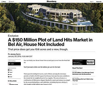 Bloomberg Exclusive Feature of The Park Bel Air
